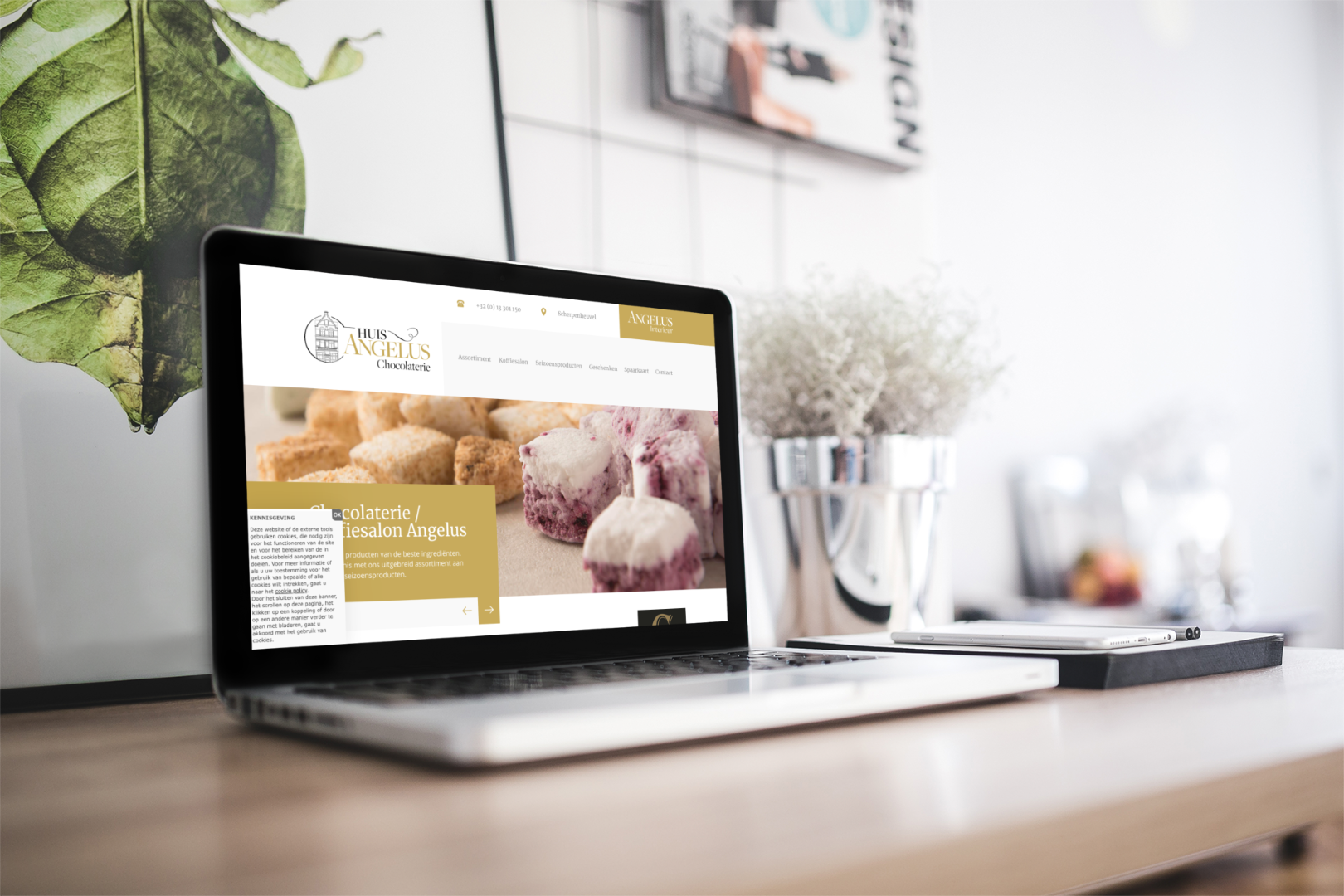 Webdesign Portfolio Webflux - Chocolaterie Angelus
